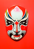 Chinese opera face in chinese temple.
