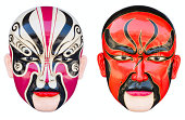 Chinese opera mask on the white background