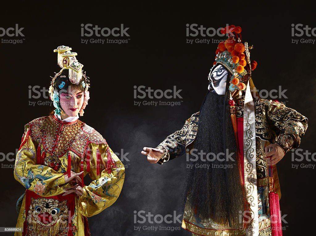 Chinese opera (Ba Wang and Yu Ji) royalty-free stock photo