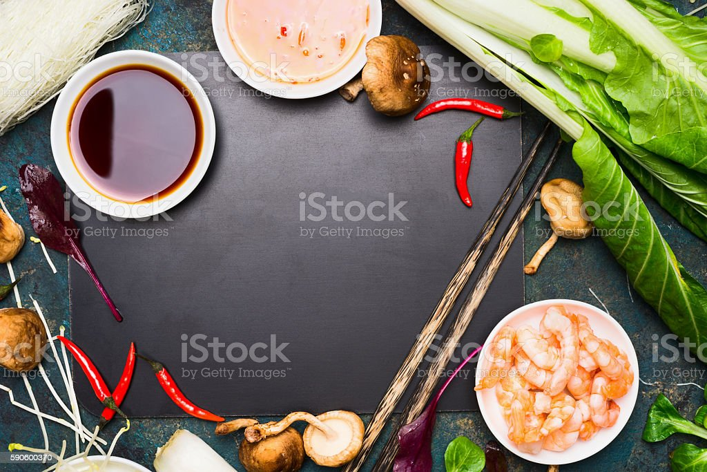 Chinese or thai cooking food background asian food ingredients stock chinese or thai cooking food background asian food ingredients royalty free stock photo forumfinder Images