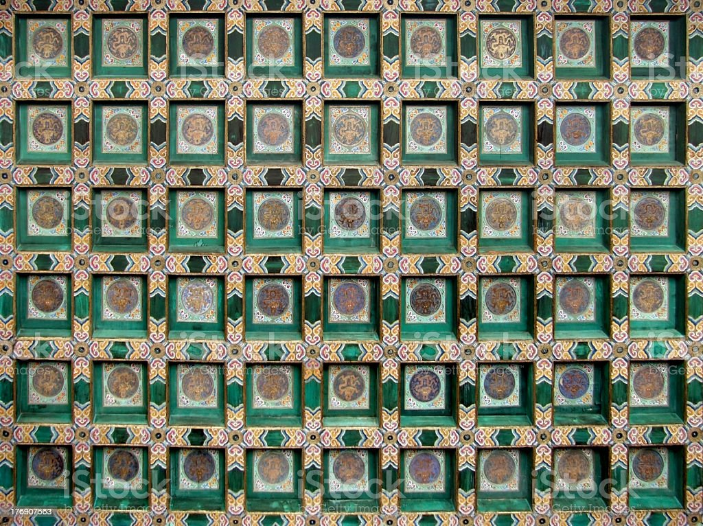 chinese painted ceiling royalty-free stock photo