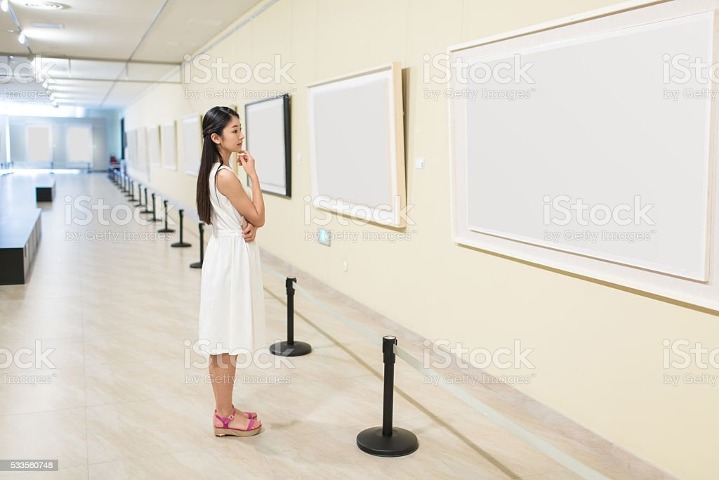 chinese painting exhibition stock photo