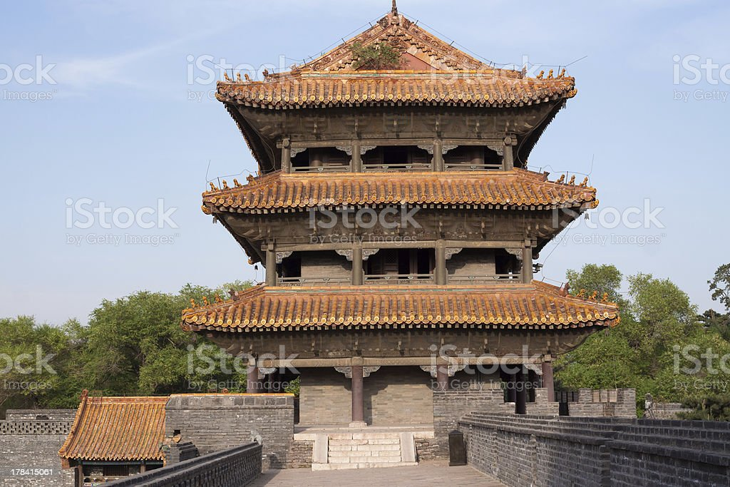 Chinese Palace Architecture This photo was taken in Zhaoling. Abstract Stock Photo