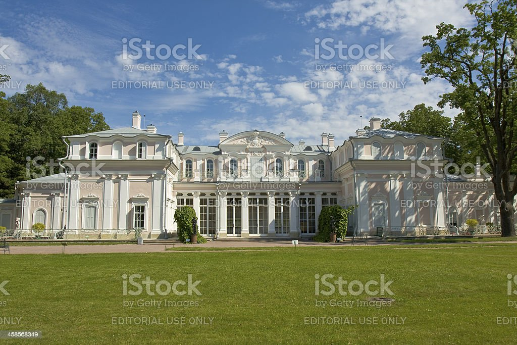 Chinese palace in Oranienbaum, Russia royalty-free stock photo