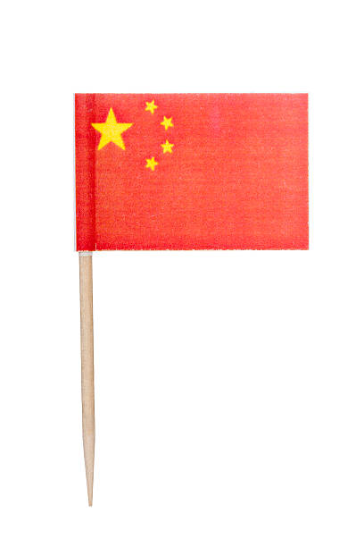 Chinese paper flag foto