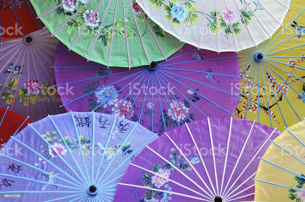 Chinesische Sonnenschirme Lizenzfreies stock-foto