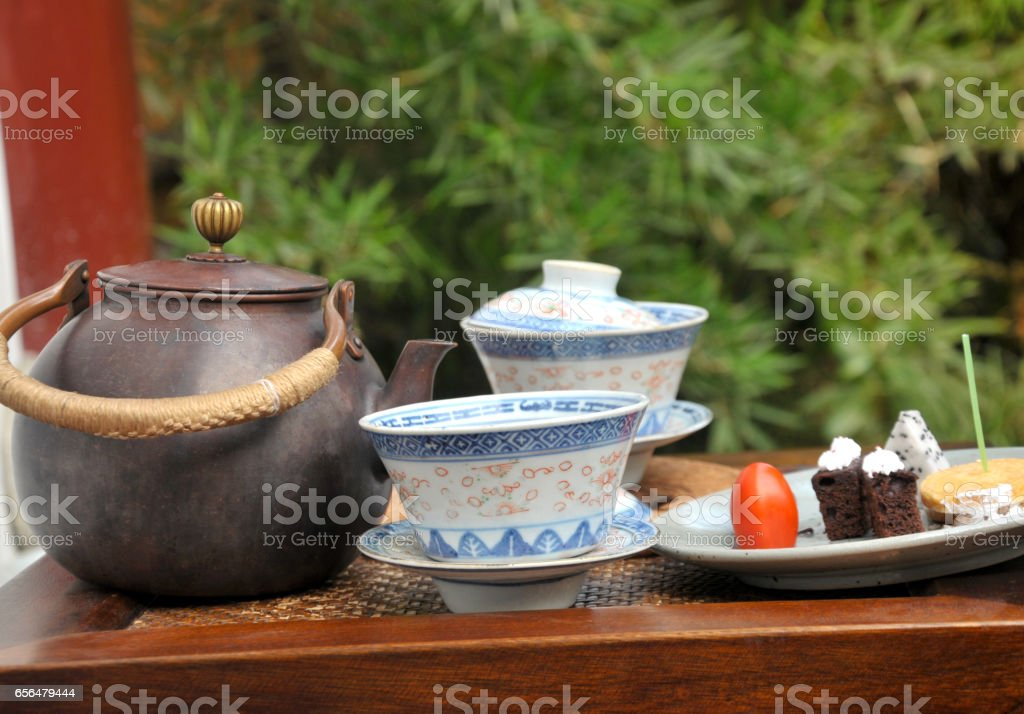 Chinese Pastry or Moon cake in China stock photo