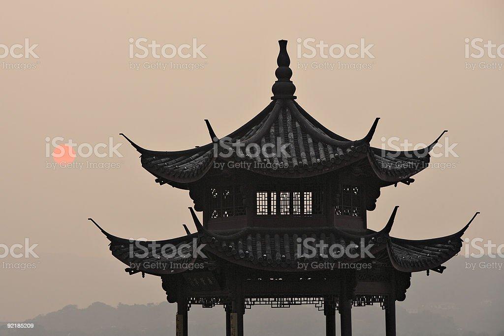 Chinese Pavilion royalty-free stock photo