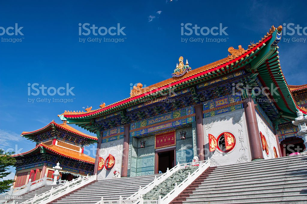 Chinese pavilion  temple in Nonthaburi,Thailand royalty-free stock photo