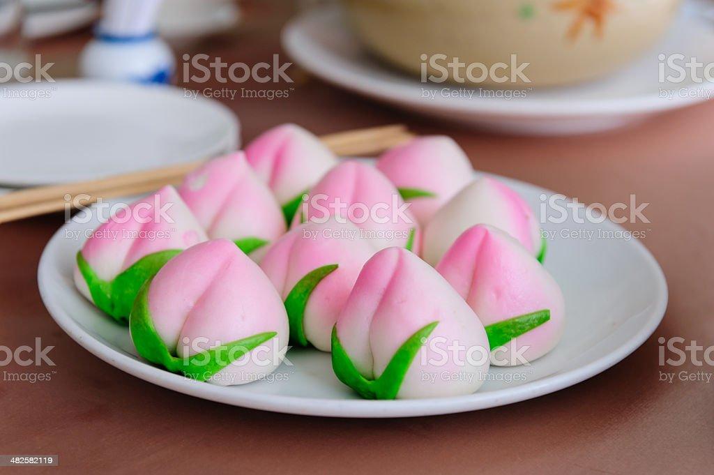 Chinese Peach Bun stock photo