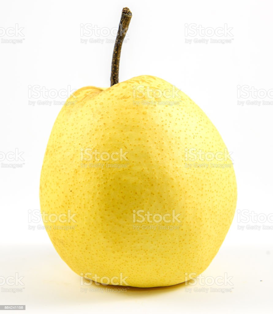 Chinese pear on white background royalty-free stock photo