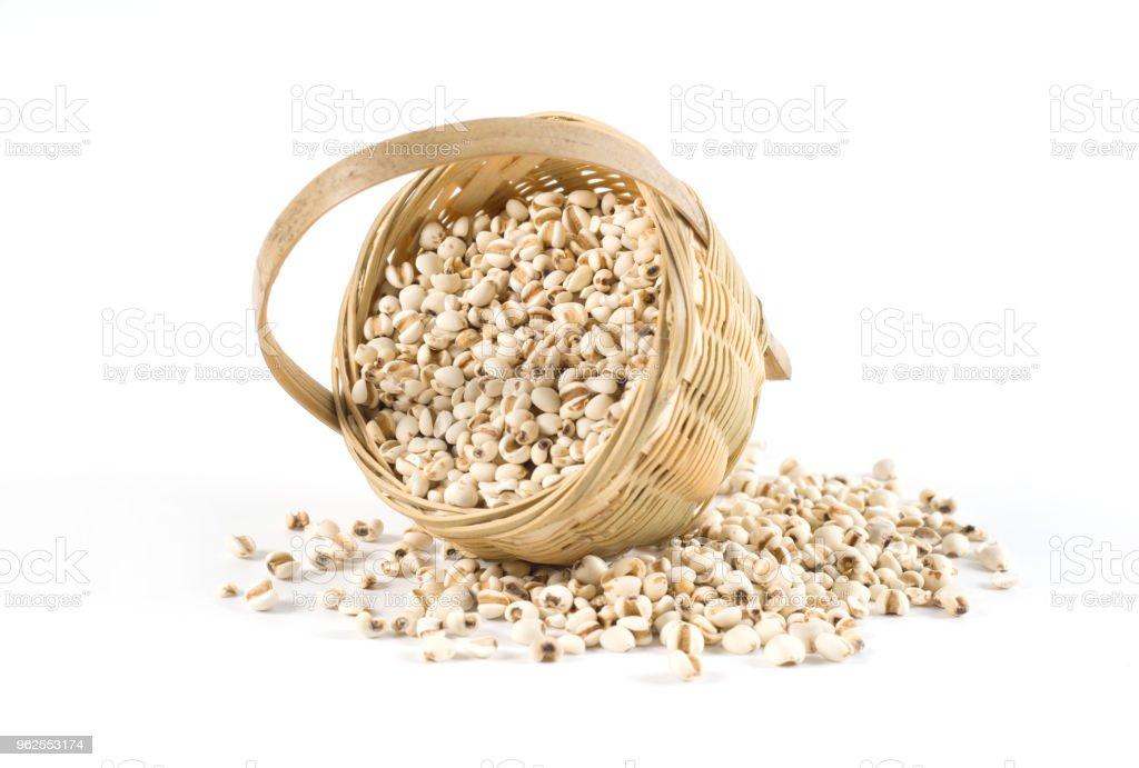 cevadinha chinesa, trabalho de lágrimas, medicina herbal chinesa tradicional - Foto de stock de Bem-estar royalty-free