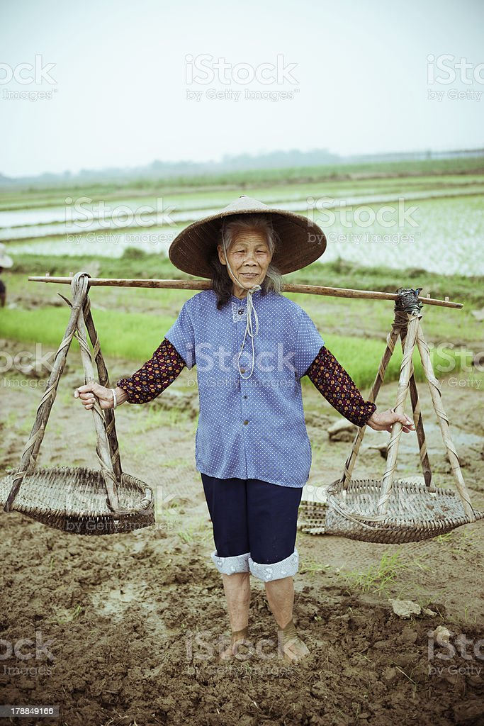 Chinese peasant royalty-free stock photo