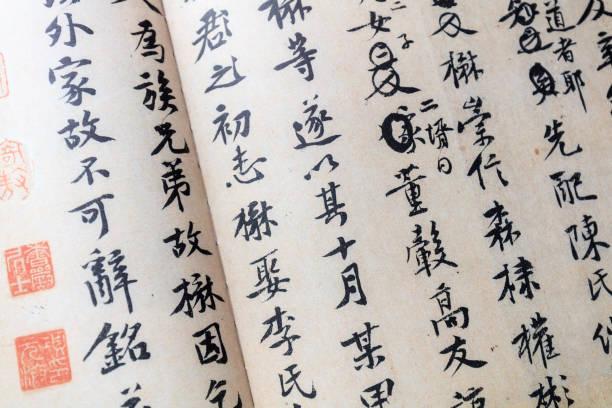中國表意字元、黃黃庭堅書法片 - chinese writing 個照片及圖片檔