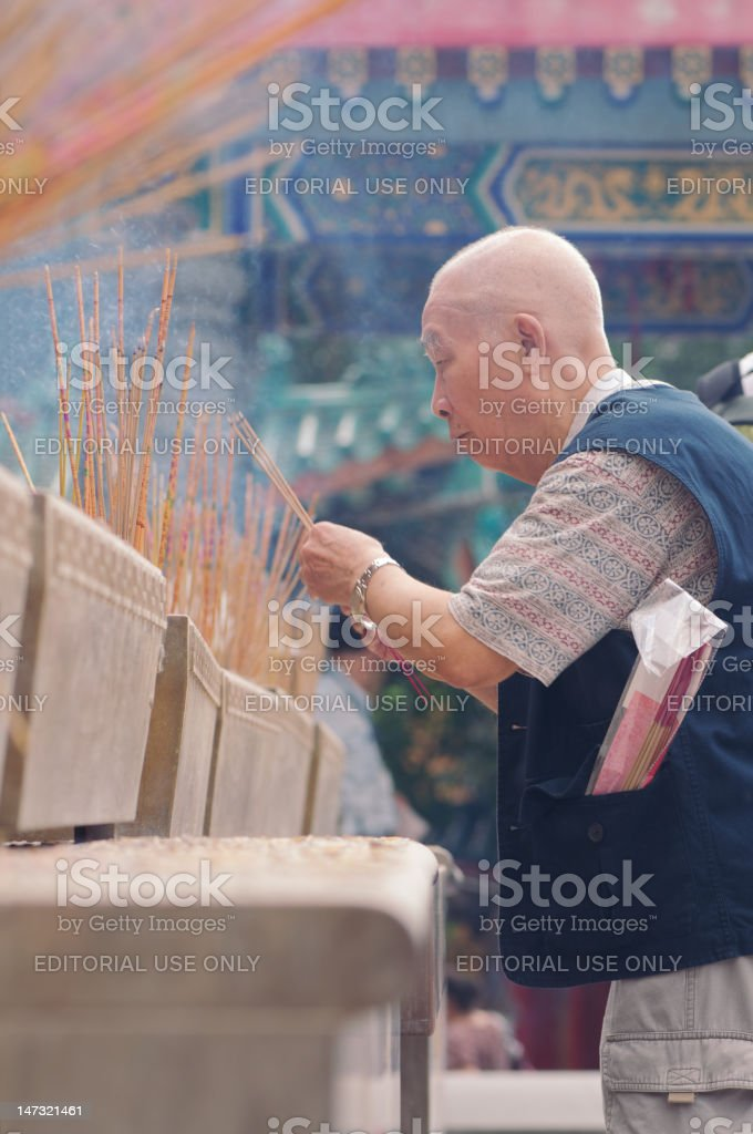 Chinese Pilgrim royalty-free stock photo