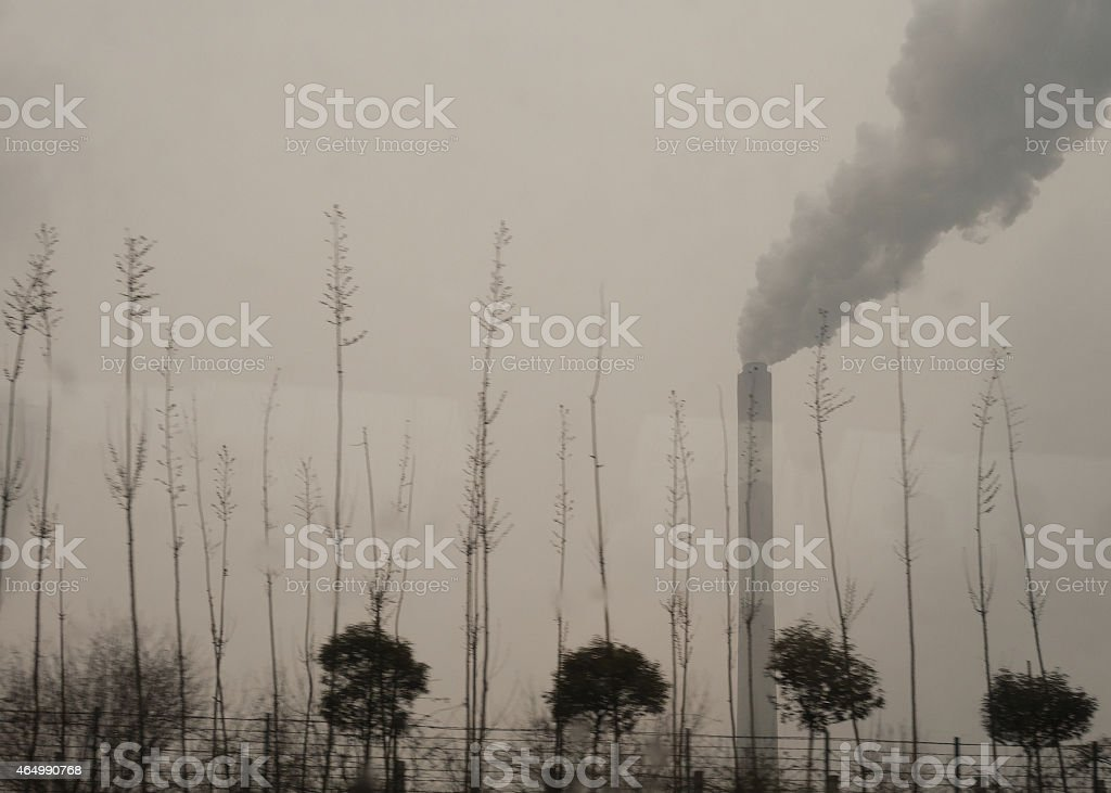 Chinese pollution stock photo