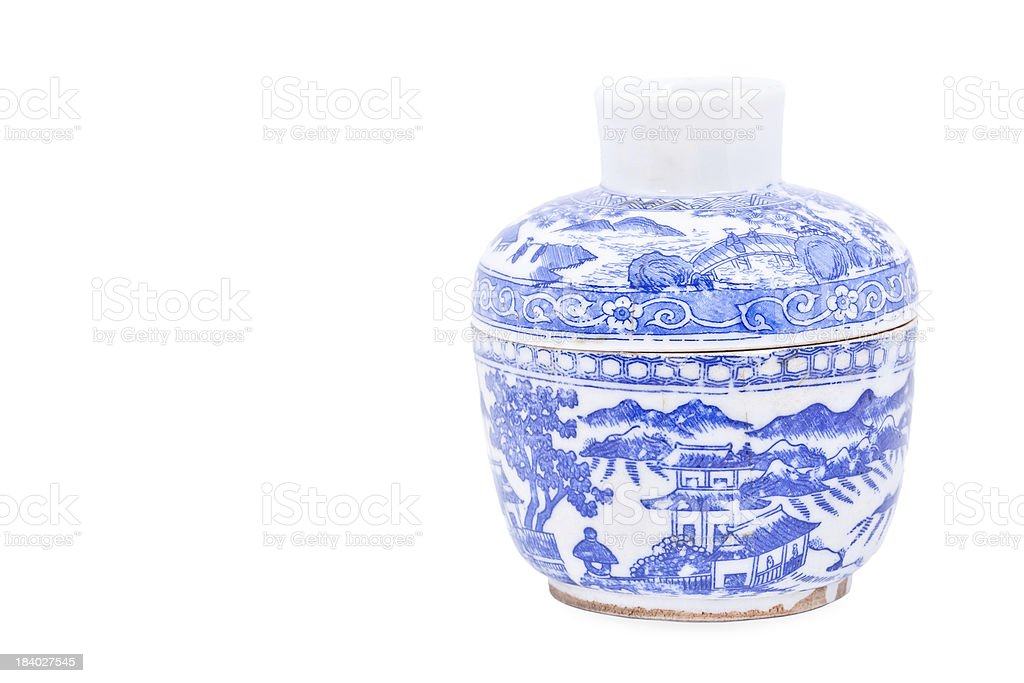 Chinese porcelain bowl royalty-free stock photo
