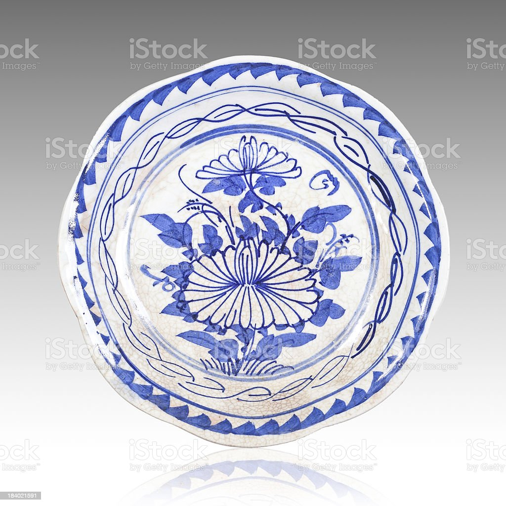 Chinese porcelain dish royalty-free stock photo