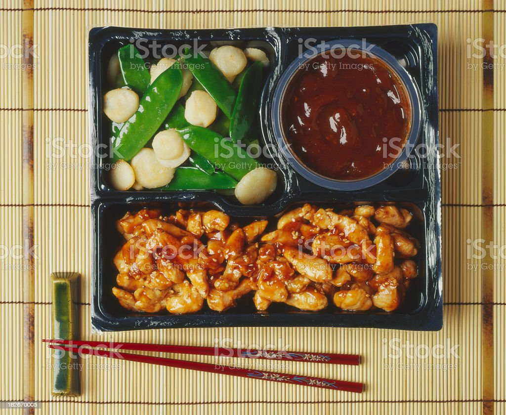 Chinese ready meal. royalty-free stock photo