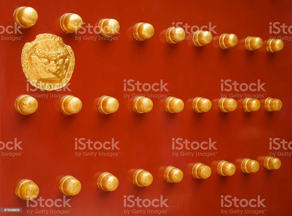 chinese red door royalty-free stock photo
