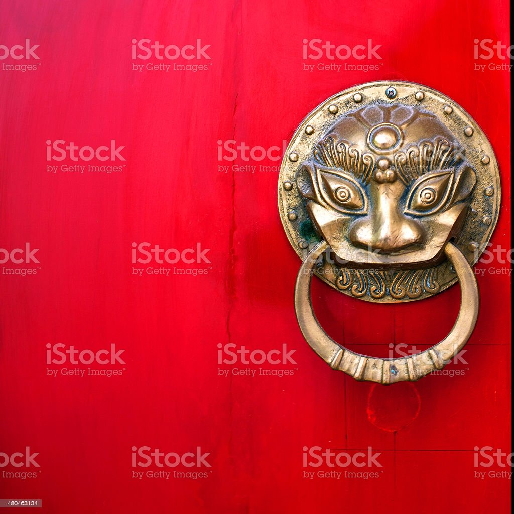 Chinese Red Gate stock photo