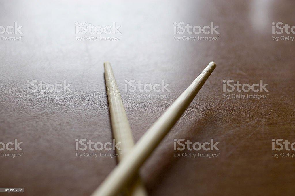 Chinese Restaurant: Chopsticks royalty-free stock photo