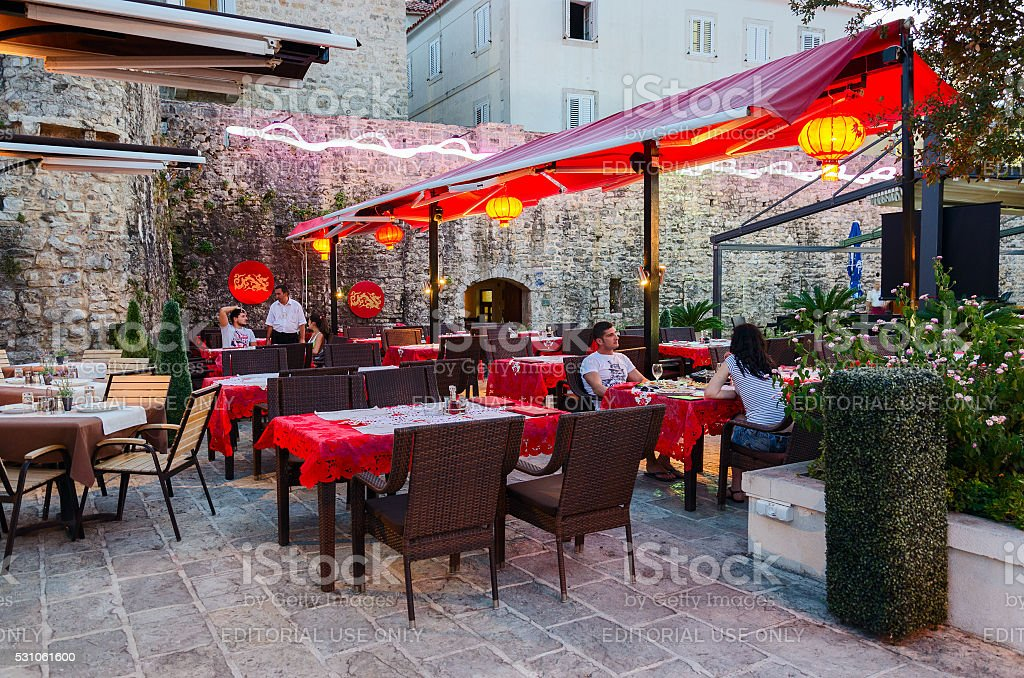 Chinese Restaurant Shanghai Old Town Budva Montenegro Stock Photo Download Image Now Istock