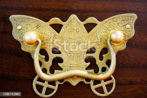 Chinese retro furniture decoration.Butterfly pattern