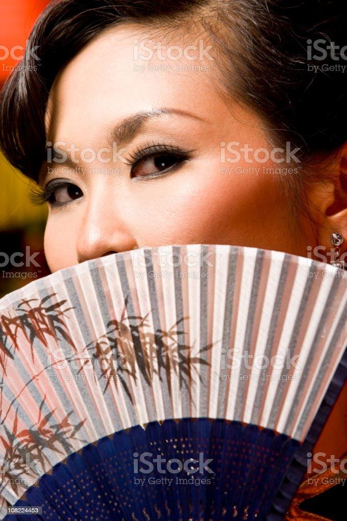 Chinese retro singer royalty-free stock photo