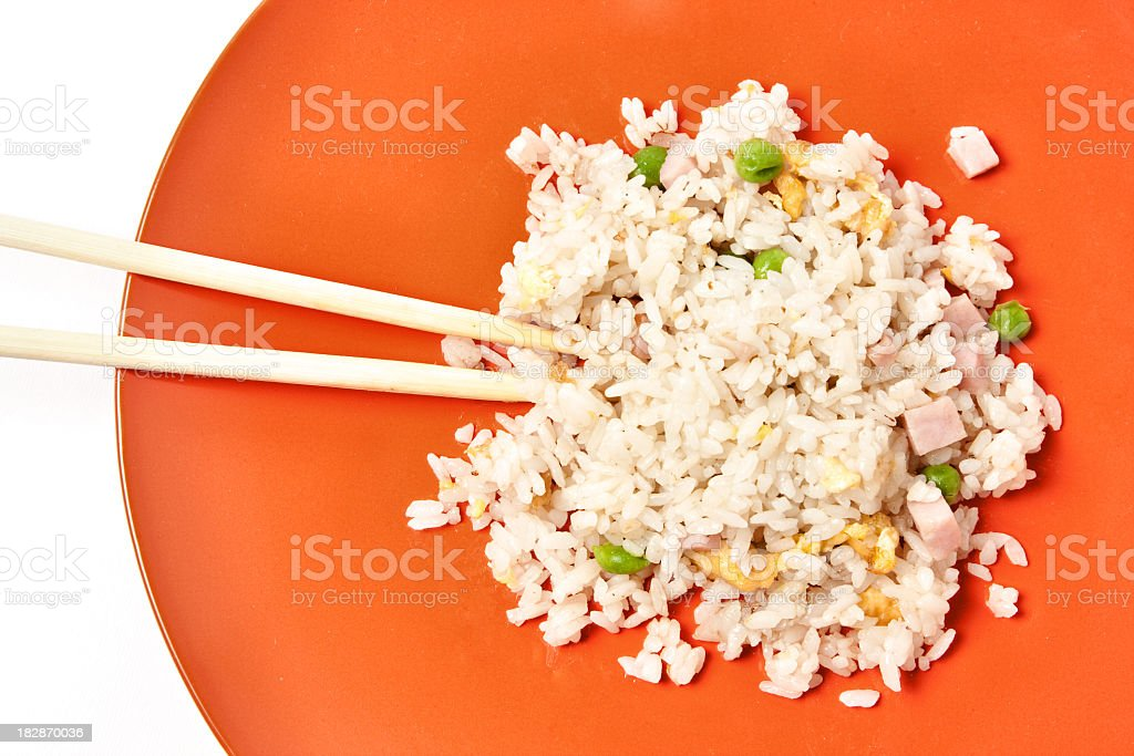 Chinese rice with vegetables and eggs royalty-free stock photo
