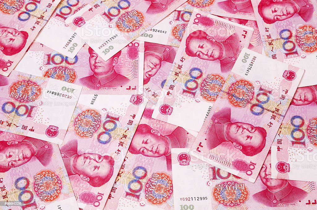 Chinese RMB currency royalty-free stock photo
