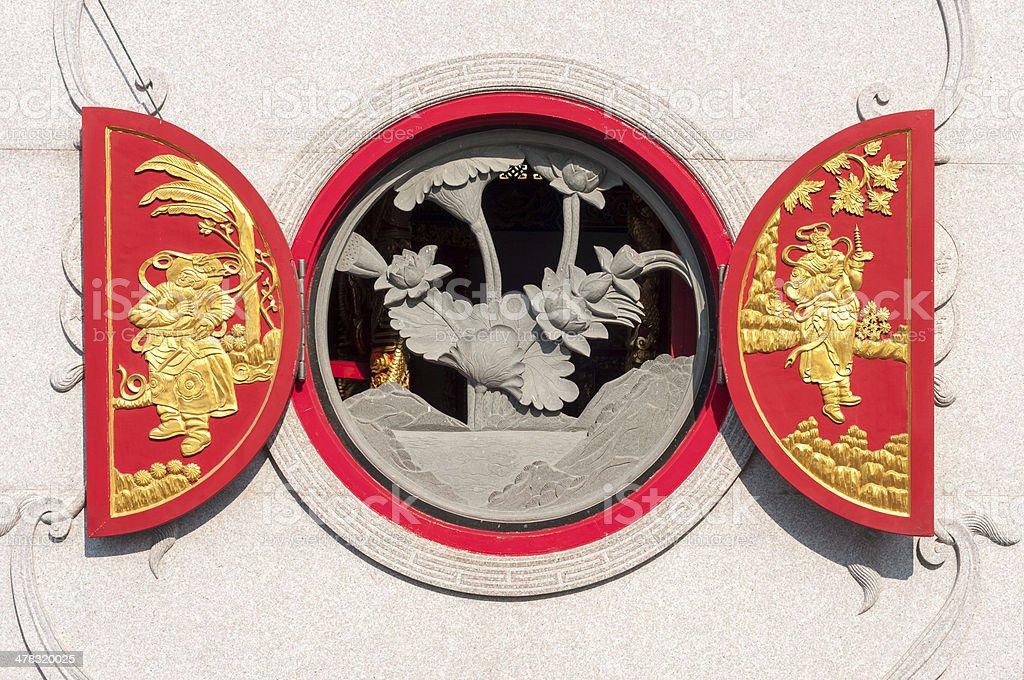 Chinese Round Window stock photo