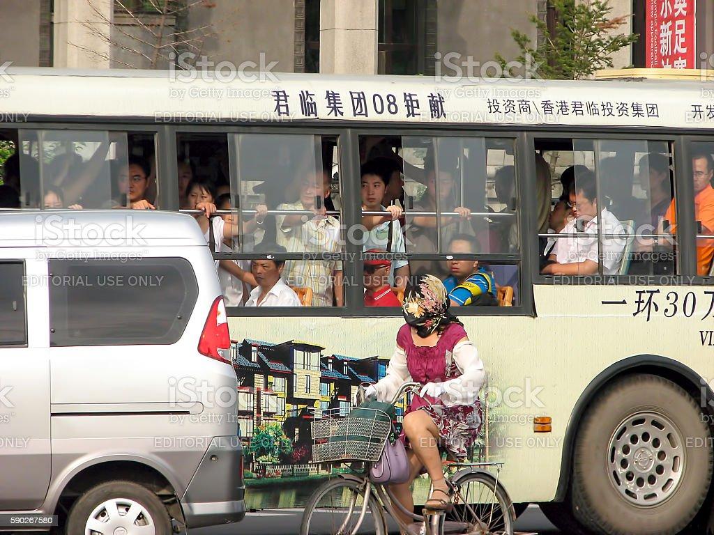Chinese rush hour stock photo