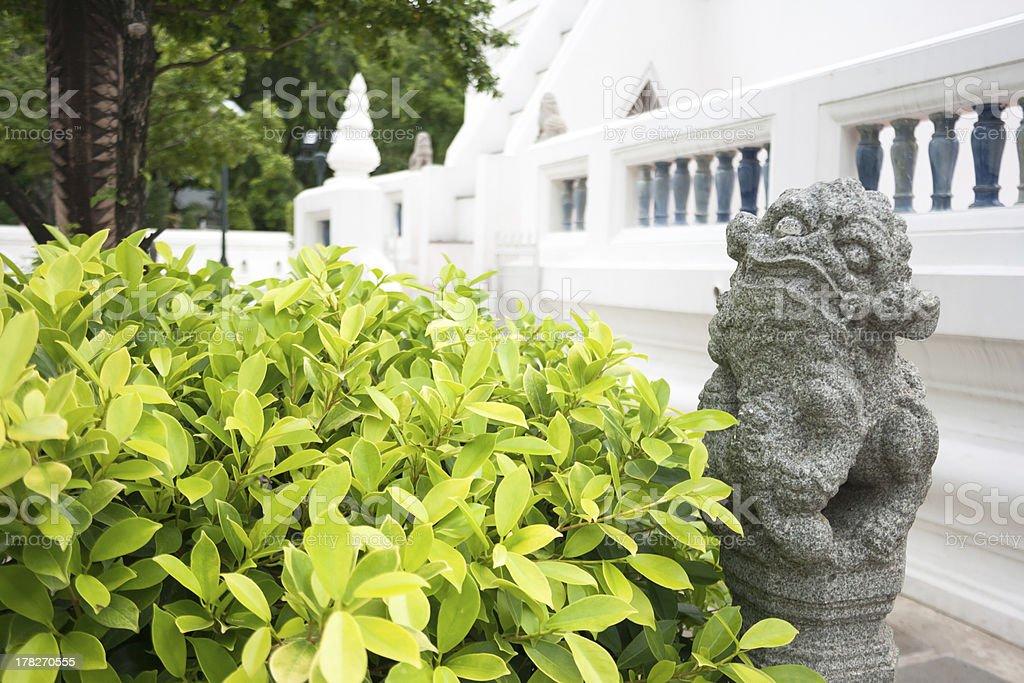 PE-SIA  Chinese Sacred Animal statue royalty-free stock photo