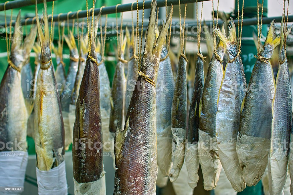 Chinese Salted Fish royalty-free stock photo