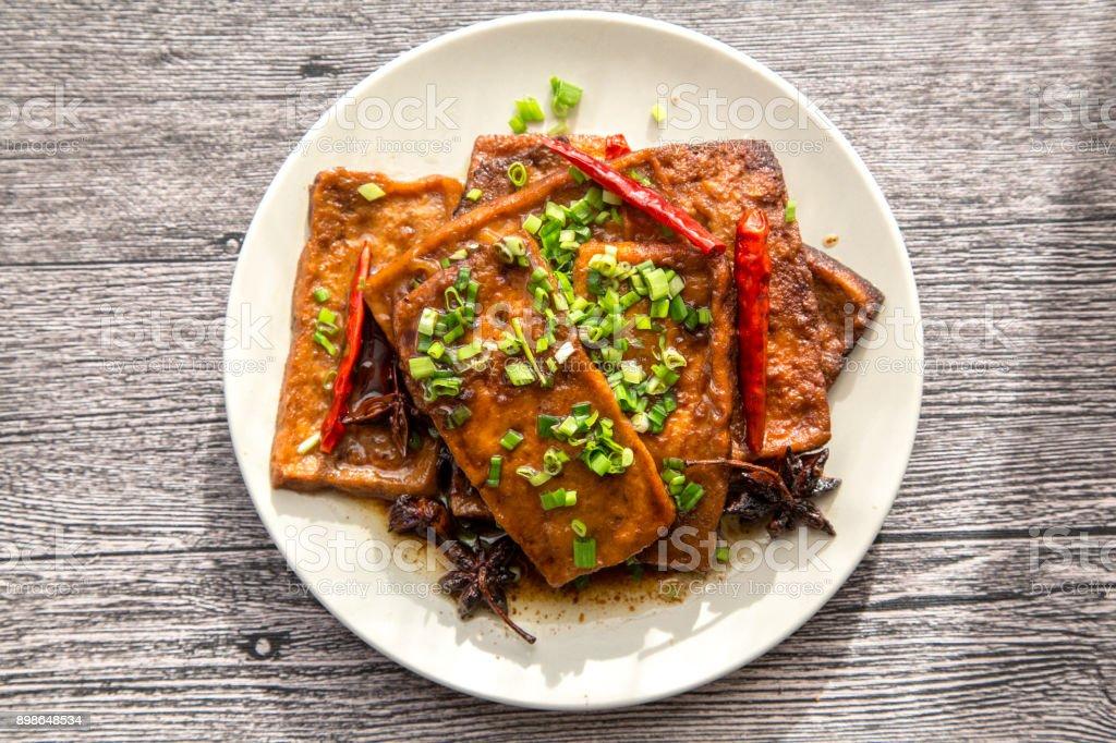 Tofu sauce chinoise braisée photo libre de droits
