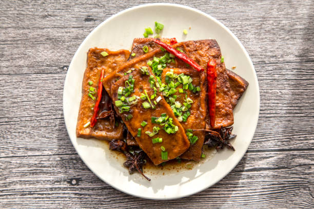 Tofu sauce chinoise braisée - Photo