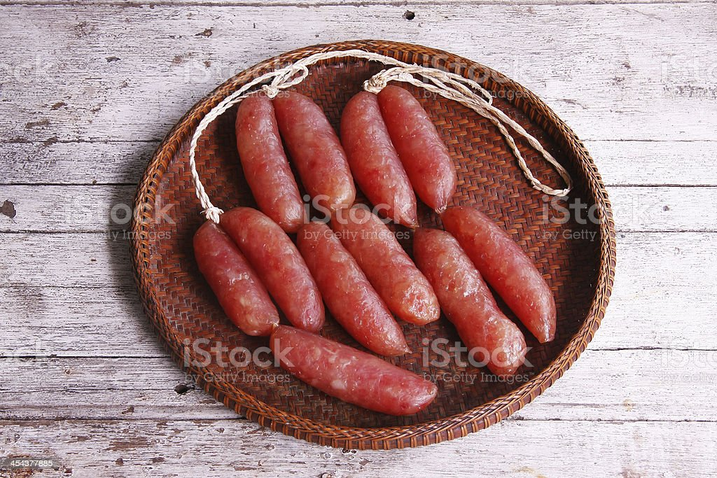Chinese sausages royalty-free stock photo