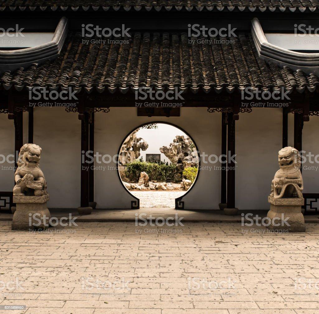 Chinese Secret Garden stock photo
