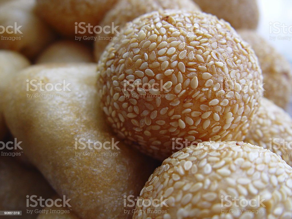 Chinese sesame ball (red bean filling) royalty-free stock photo