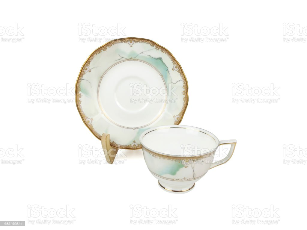 Chinese set of tea cups on white background foto de stock royalty-free