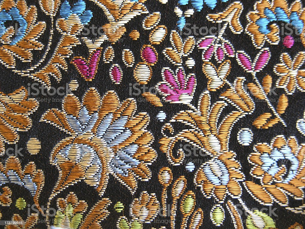 Chinese Silk Brocade stock photo