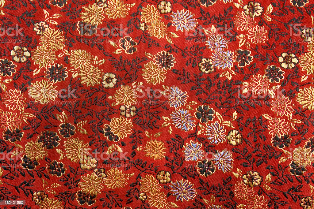 Chinese Silk Texture stock photo