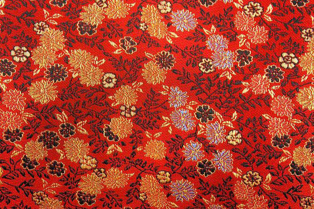 Chinese Silk Texture stock photo