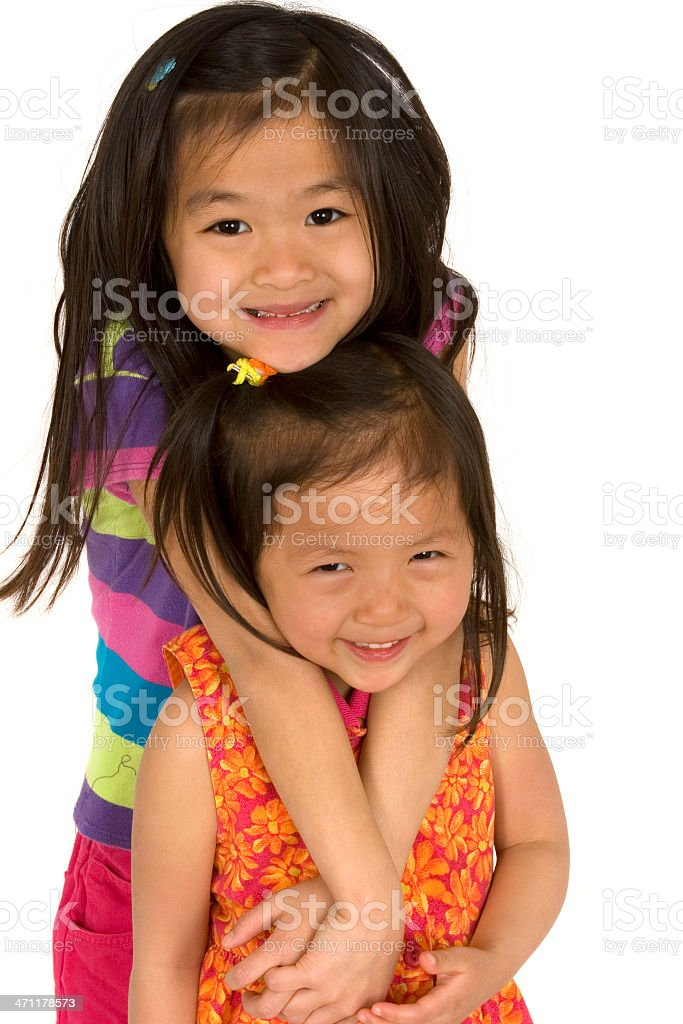 Chinese sisters royalty-free stock photo