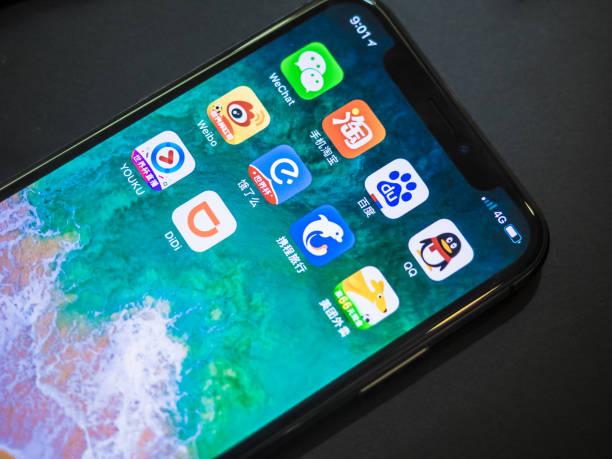 Chinesische Social Media mit Iphone X – Foto
