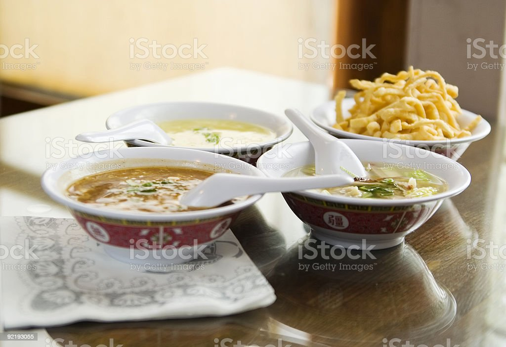Chinese Soups 2 stock photo