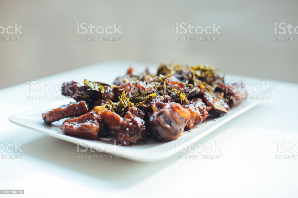 Chinese Spare Ribs stock photo