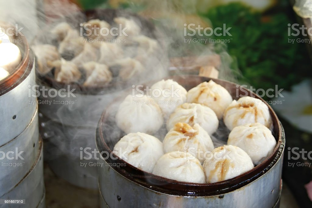 Chinese specialty Steamed Dumplings stock photo