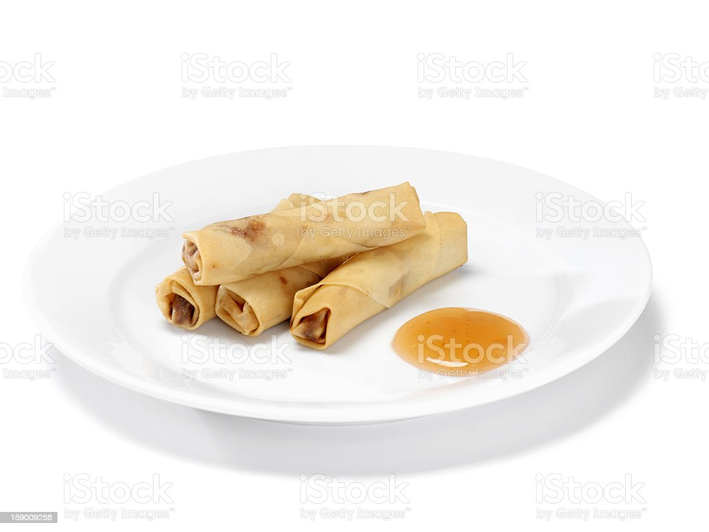 Chinese Spring Rolls royalty-free stock photo